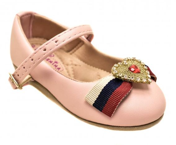 Sapato Infantil Menina Social Com Laço 1075sa