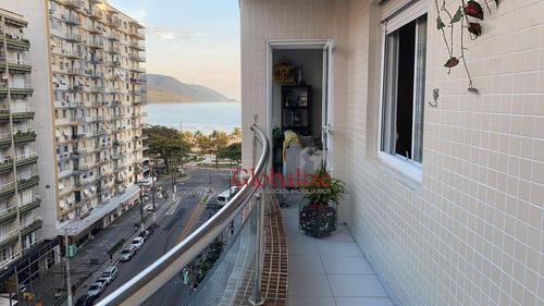 Imagem 1 de 30 de Apartamento Com 3 Dormitórios À Venda, 139 M² Por R$ 795.000,00 - Boqueirão - Santos/sp - Ap0441