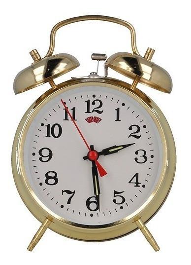 Reloj Despertador De Campana De Cuerda Envío Gratis G0f
