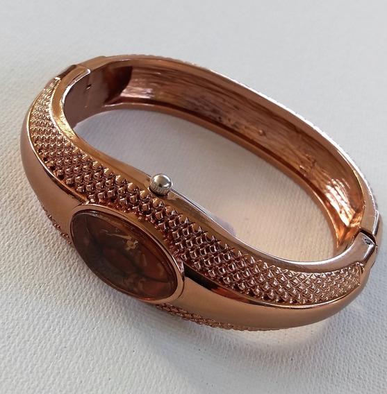 Relógio Pulseira. Semi-joia Em Bronze (promoção)