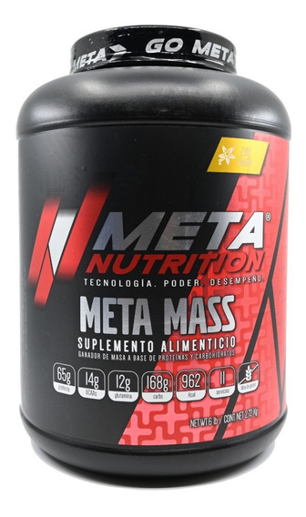 Proteina Meta Nutrition Meta Mass 2.72 Kg (6 Lb) Vainilla