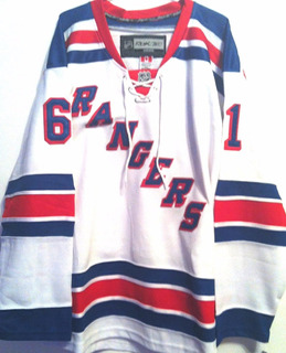 Camisa New York Rangers Rick Nash #61 Reebok Elite Branca