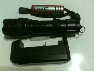 Lanterna Tatica 50000lm T6led Bateria 4,2v+carregador