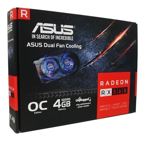 Tarjeta De Video Asus 4gb Radeon Rx560 Pc Hdmi