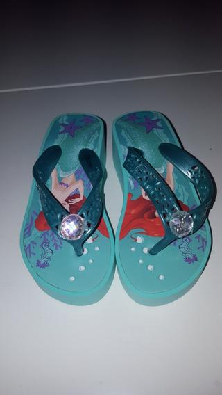 Bellas Ojotas C/taco Disney Store La Sirenita.unicas!!!!