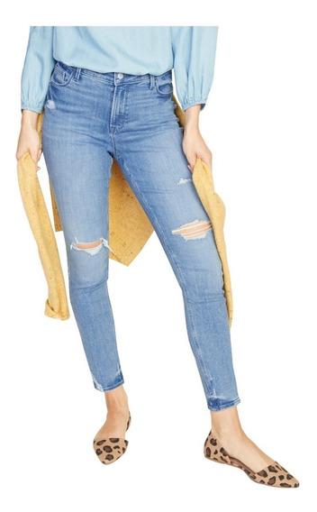Jeans Dama Pantalón Mezclilla Rockstar Slim Mujer Old Navy