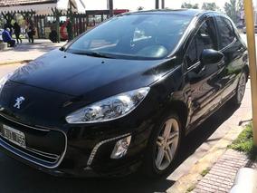 Peugeot 308 2.0 Feline 143cv 2012 Negro Tope De Gama Nafta