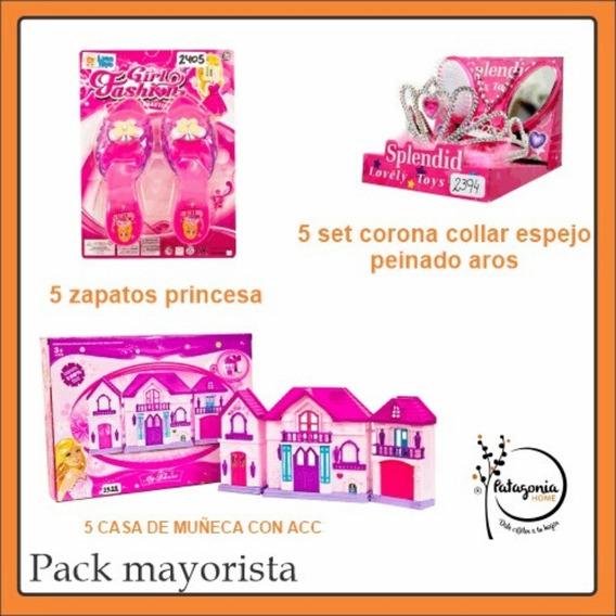 Pack Mayorista Juguetes Mini Casas+ Zapatos+coronas Princesa