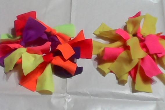 Accesorios Para El Pelo Por Dos Con Telas Multicolores Fluo