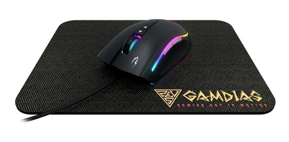Kit Mouse Gamer Gamdias Zeus M2 C/ Mousepad Nyx 10.800dpi