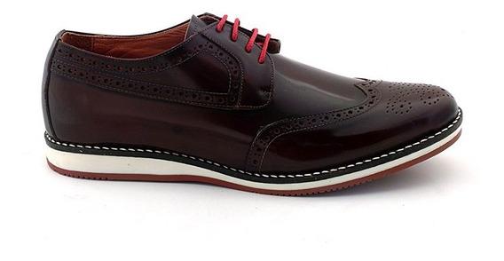 Zapato Hombre Acordonado Cuero Briganti Sport - Hcac00807