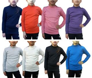 Camiseta Media Polera Niños Lisas Talle 2-4-6-8
