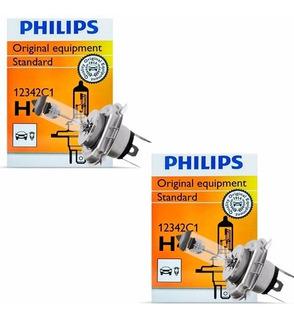 Par Lâmpada H4 12v 55w Original Philips Gol Parati Voyage