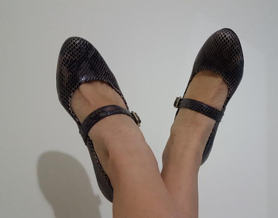 Zapatos Taco Alto Animal Print - Ultima Moda - Nuevo