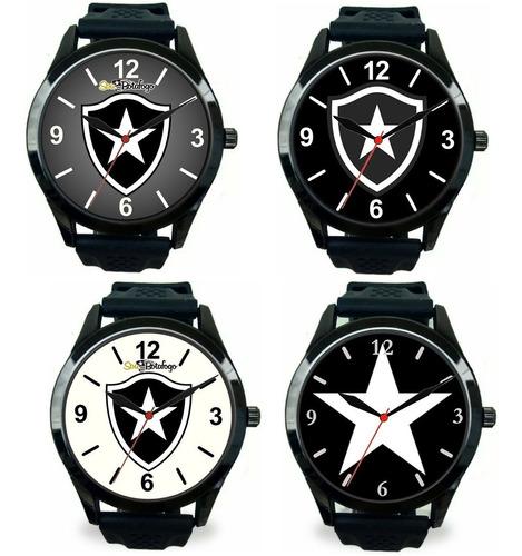 Kit 4 Relógios Pulso Esportivo Botafogo Rj Masculino Barato