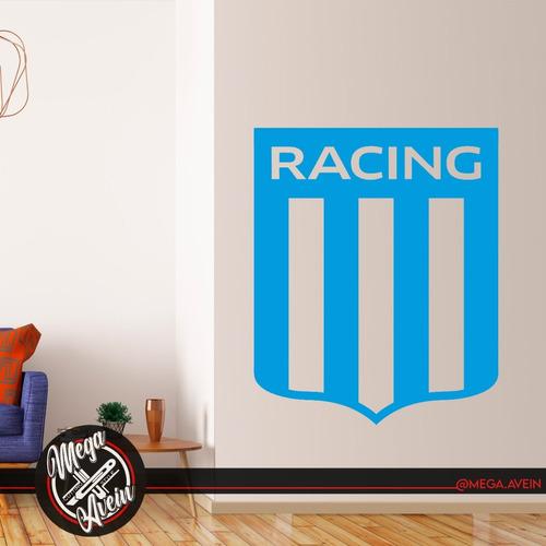 Vinilo Decorativo Racing Escudo. Vinilo Futbol Racing