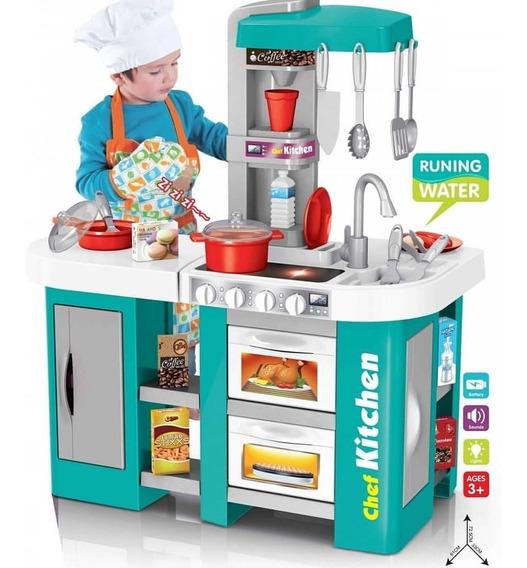 Cocina Cocinita Infantil Luz, Sonido Y Agua 53 Piezas Niña