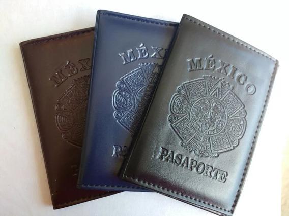 Paquete 6 Porta Pasaporte Elegante Protector Mexicana Family