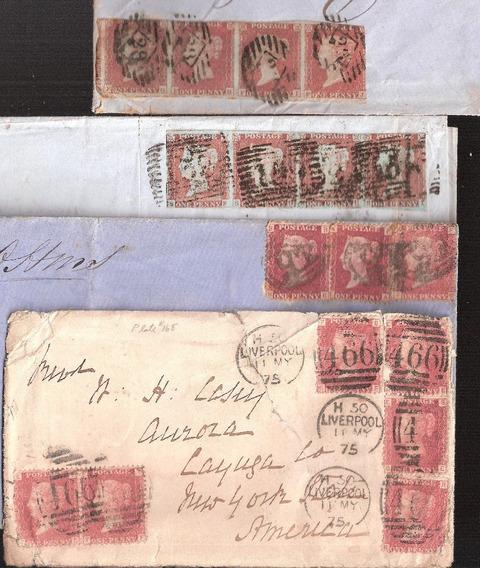 Inglaterra Selos One Peny Red Rainha Victória .