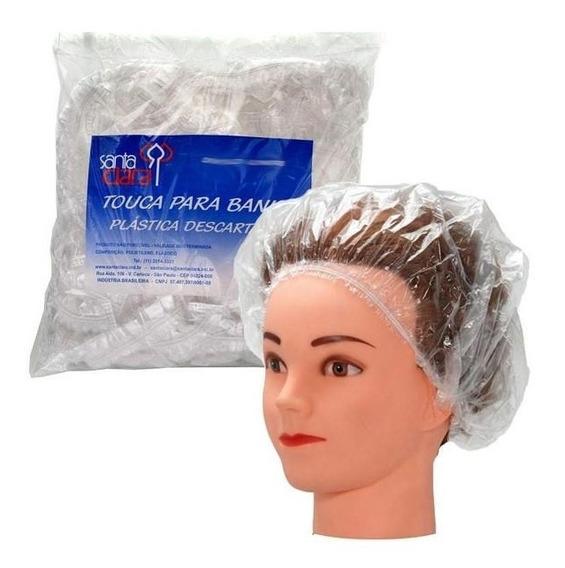 1500 Touca Plástica Descartável Luxo Banho Cabelo C/ Nota