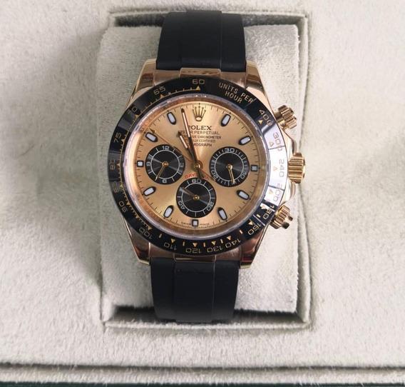 Relógio Mod. Daytona Black&dourado Vedado 100m Único Ml