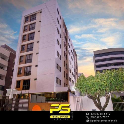 ( Mobiliado ) Apartamento Com 2 Dormitórios À Venda, 45 M² Por R$ 350.000 - Cabo Branco - João Pessoa/pb - Ap3355
