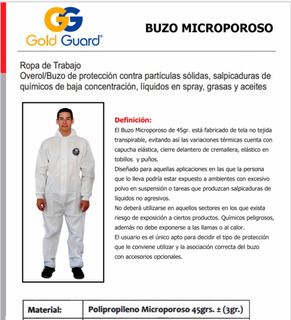 Traje Overol Desechable- Tybet