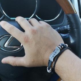 Pulseira Masculino Diesel Bracelete Tribal Couro Trançado
