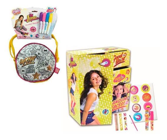 Set De Regalo Soy Luna Fan Set Armario Y Bandolera P/pintar