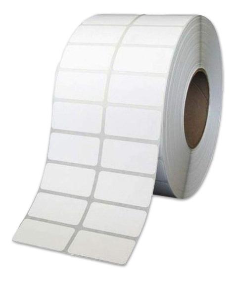 Rollo Etiquetas Papel Ilustración 50x25 Mm 2 Bandas X 3600