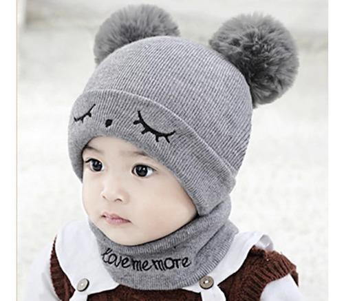 Gorro Bufanda Bebe Niño Para Frio E Invierno