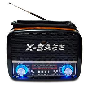Rádio Retrô Vintage Portátil Am Fm Usb Mp3 Cartão Lanterna