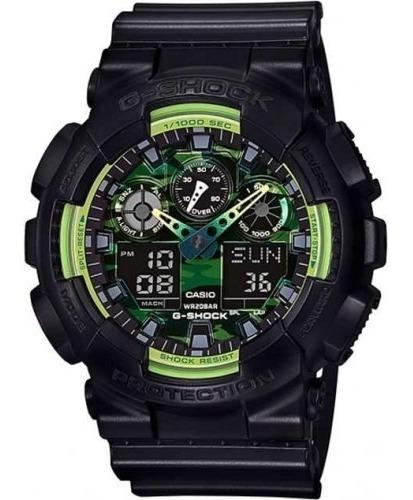Relógio Casio Masculino G-shock Ga-100ly 1adr Verde Oferta