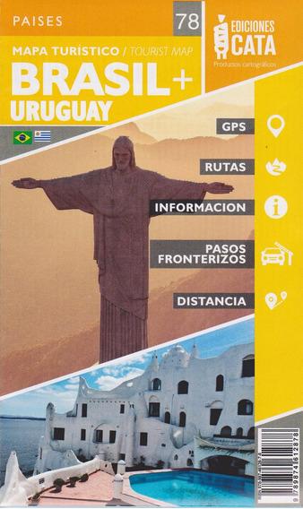 Mapa Do Sul Do Brasil + Uruguai - Rodoviário