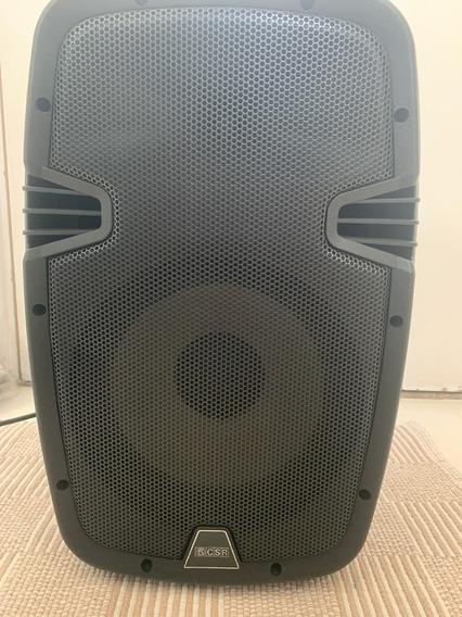 Caixa De Som Ativa Csr 100w, Bluetooth Em Excelente Estado