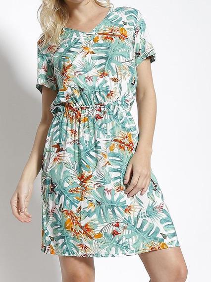 Vestido Feminino Viscose Floral Promoção Fabrica 3184