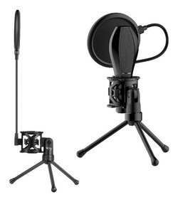 Suporte Tripé Microfone Aranha Ante Shock Pop Filter T5