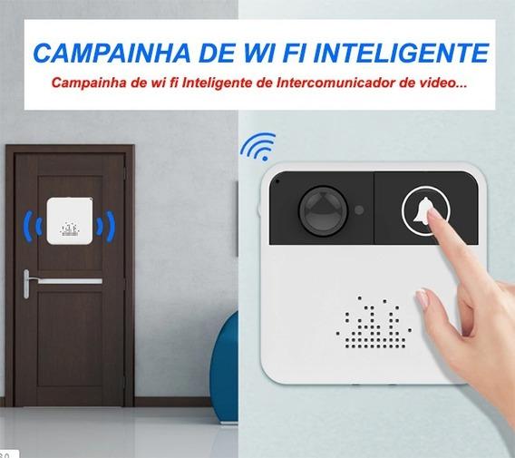 Câmera Vídeo Porteiro Wi-fi Campainha Alarme De Segurança