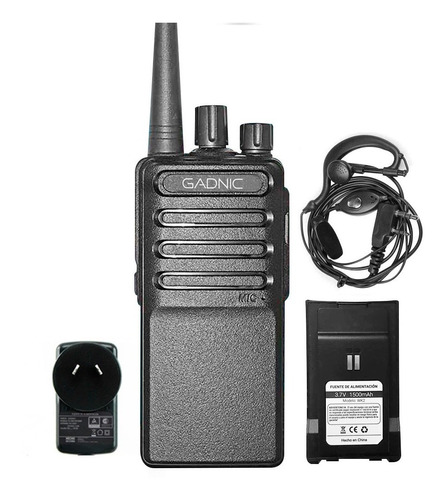 Handy Gadnic Radio Walkie Talkie Wk2 16 Canales Uhf 2 Baterias Manos Libres 5w Portencia Cuotas