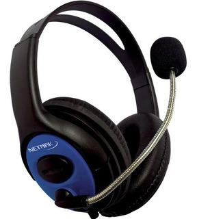 Auricular Netmak Gamer Nm-furious Ps4 Xbox Celular Chat Mic