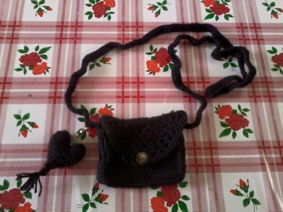 Cartera Con Llavero Tejida Crochet