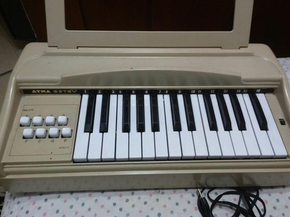 Piano Teclado Infantil Atma Antigo Perfeito Porta Partitura