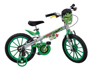 Bicicleta Infantil Aro 16 Bandeirante 2422 Hulk