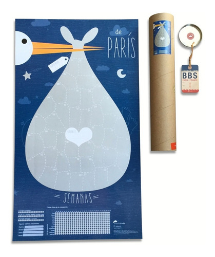 Deparís, Poster Calendario De Embarazo