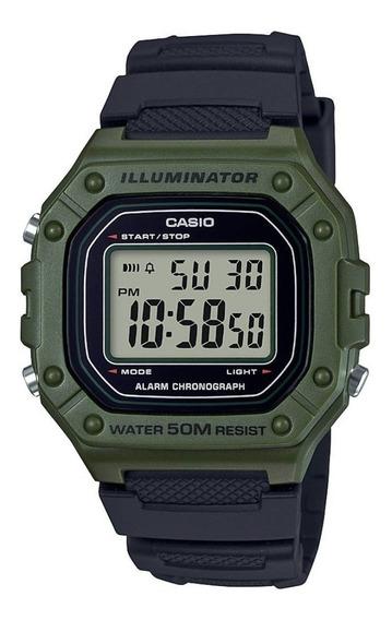 Relógio Casio Masculino Digital W-218h-3avdf
