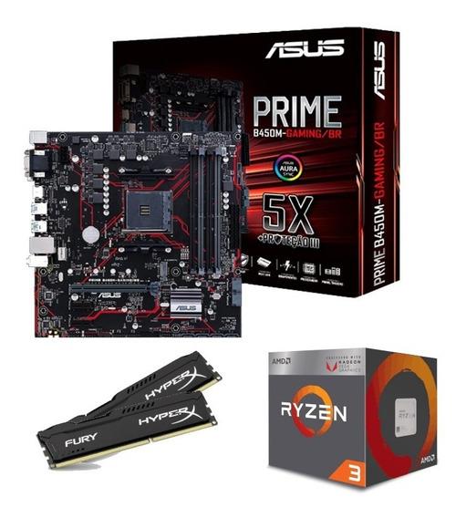 Kit Upgrade Gamer Asus Prime/ Ryzen 3 2200g/ 8gb Ddr4 Hyper