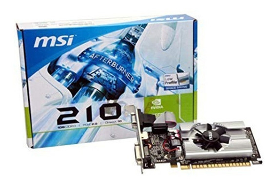 Placa De Vídeo Msi Geforce N210 1gb Ddr3 Vga Hdmi Dvi