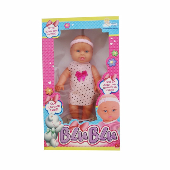 Boneca Blu Blu Vestido Floral 30cm Brinquedos Anjo Promoção
