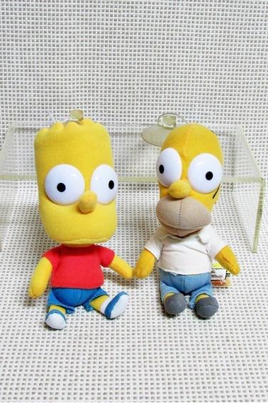 Boneco Simpsons Lote (2) Pelucia 17 Cm Bau8