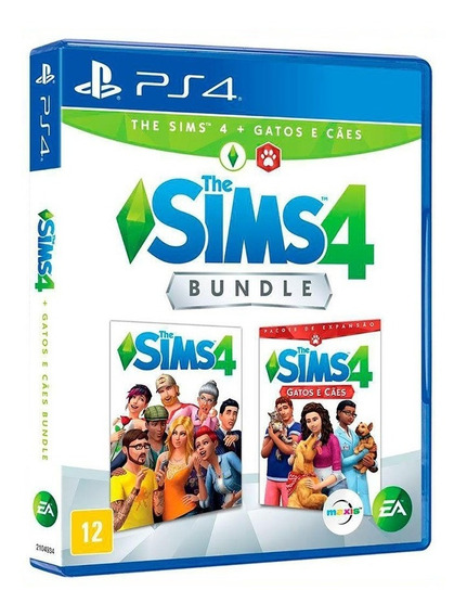 Bundle The Sims 4 + Gatos E Cães - Ps4 - Novo - Midia Física
